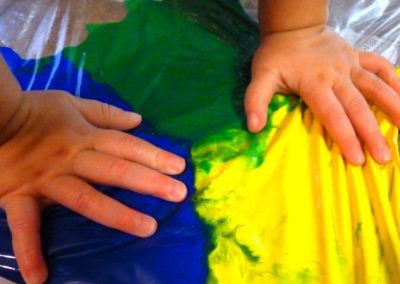 Mess-free Finger Painting